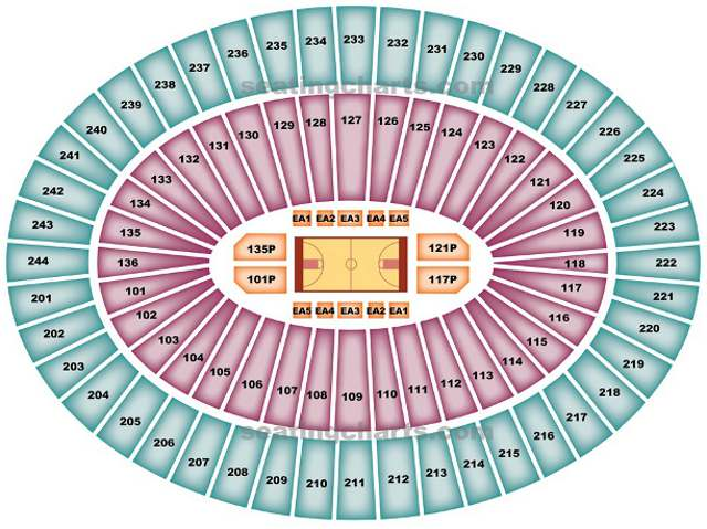 Charlotte Bobcats Seating Chart for Time Warner Cable Arena